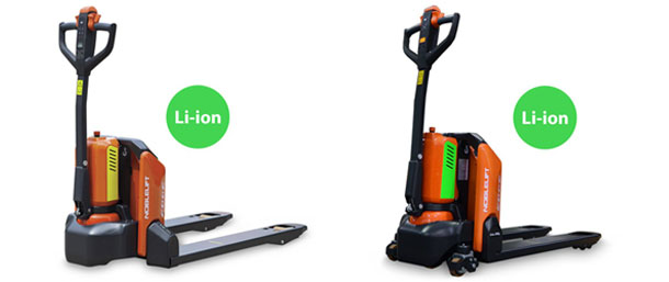 New Li-ion powered electric pallet jack sales